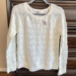 Ann Taylor Loft white Sweater, size medium